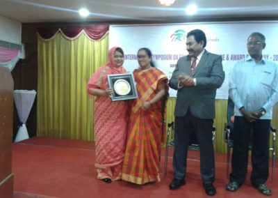 Dr A.P.J Abdul Kalam Life Time Achivement National Award For Teaching ,Reaseach And Publication Awarded to Dr Kausar Anjum on 13 May 2018 ,Chennai