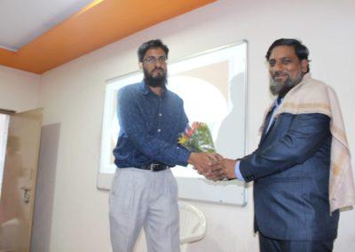 Felicitating Dr. Sirajuddin