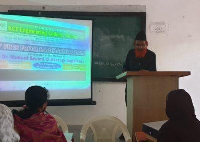 Dr. Mohammed Abdul Raheem delivering speech